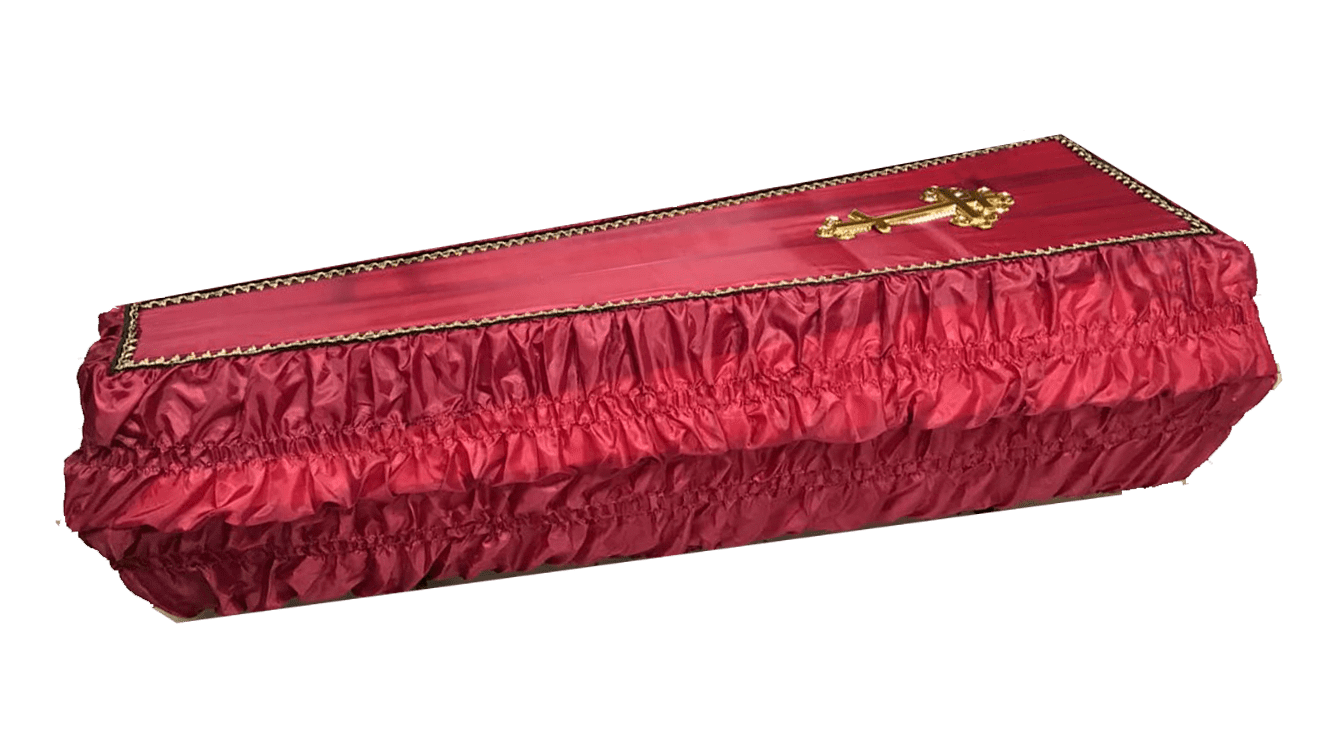 Гроб шелк